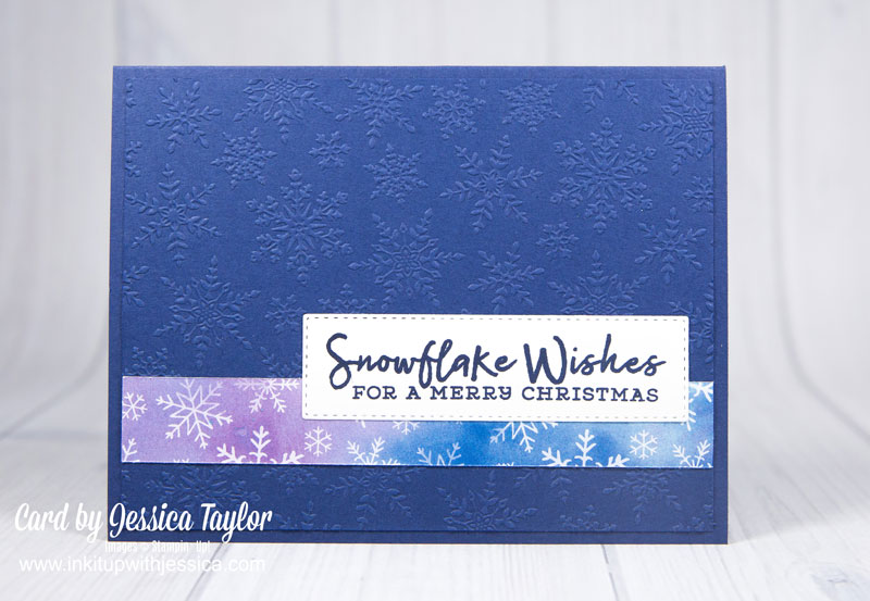 Easy Snowflake Christmas Card Idea