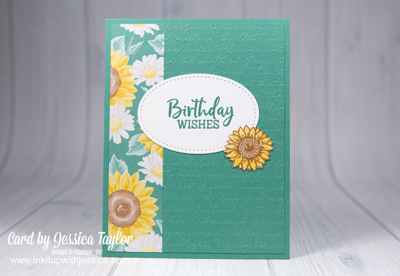 Sunflower Embossed Birthday Card Idea
