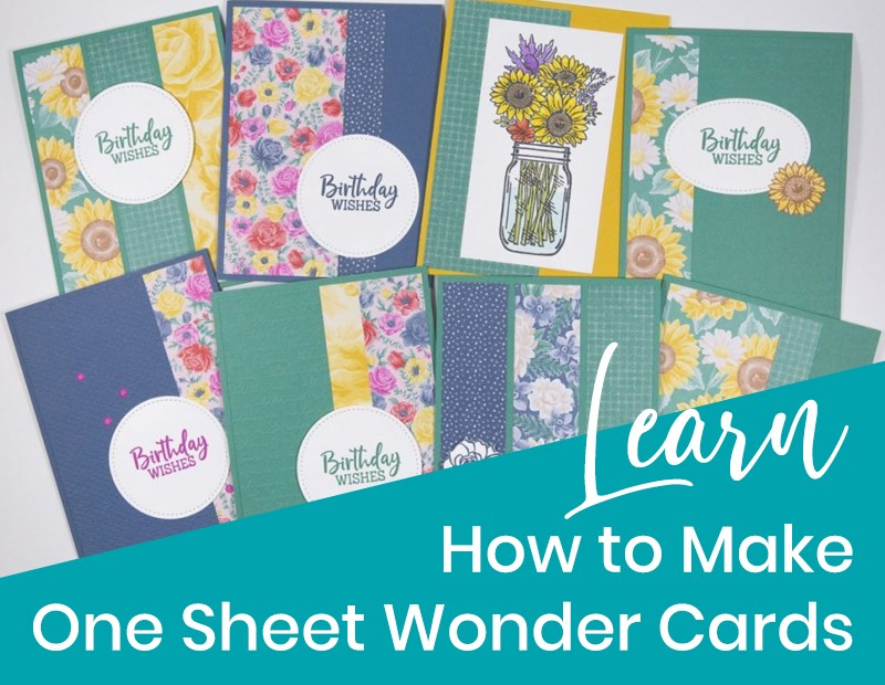 learn how to make one sheet wonder cards
