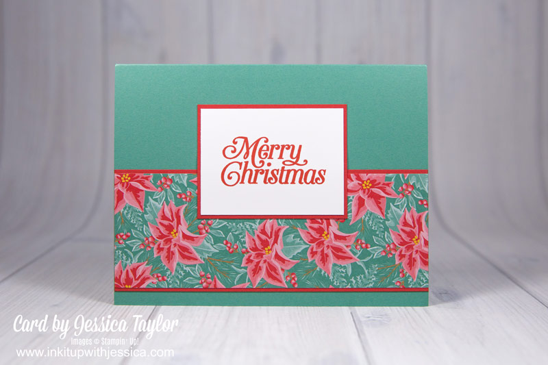 Simple Poinsettia Christmas Card Ideas