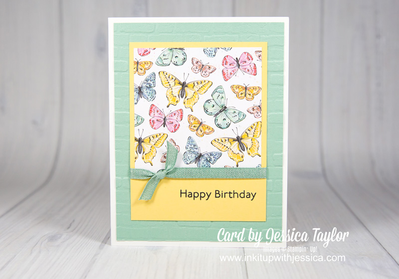 Quick Card with Butterfly Paper