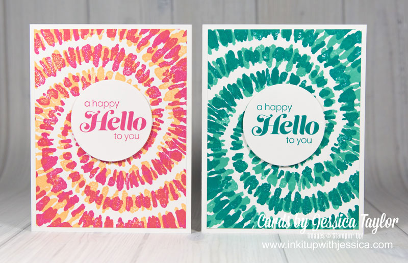 Tie Dye Cards with Stamparatus Tips