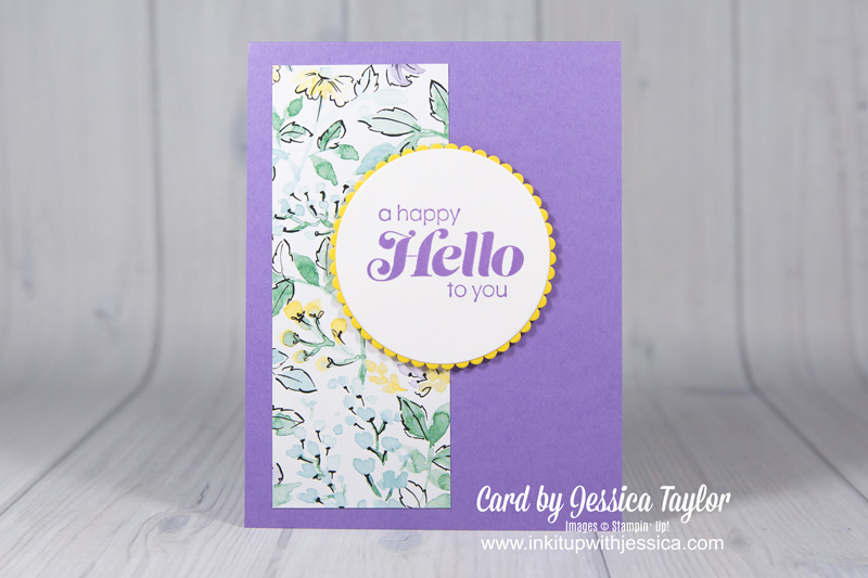 A Happy Hello with Cutting Tips for Quick Cards