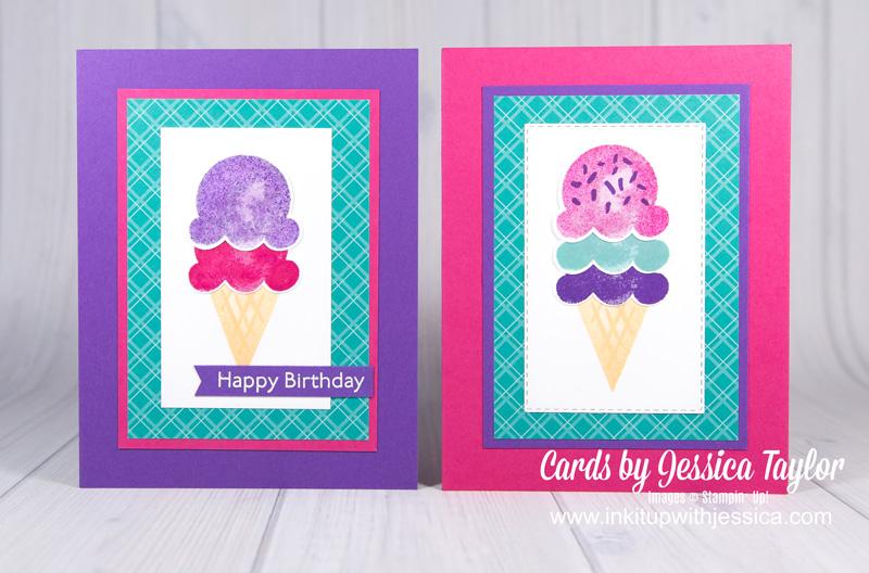 Easy Birthday Ice Cream Cone Cards